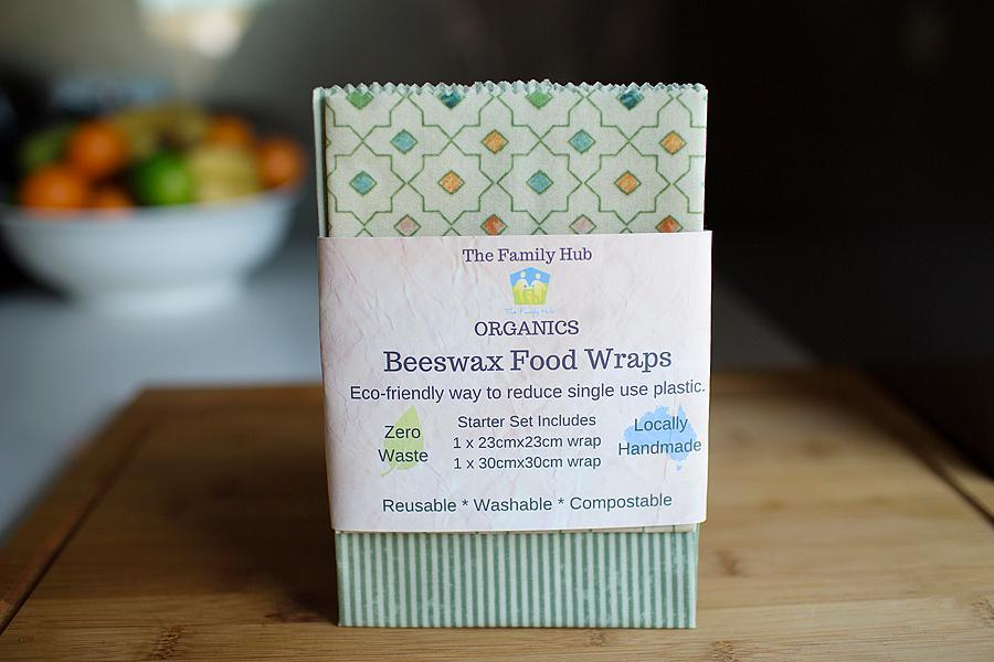 Beeswax Food Wraps (Starter Set) from The Family Hub, In Packaging