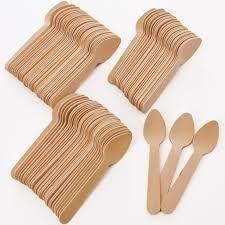 Birch Wood Desert or Tea Spoons - Pack of 100