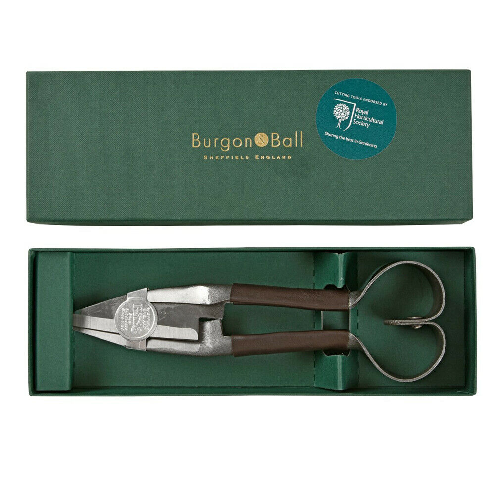 Brown Leather Handled Prof. Shears - Small