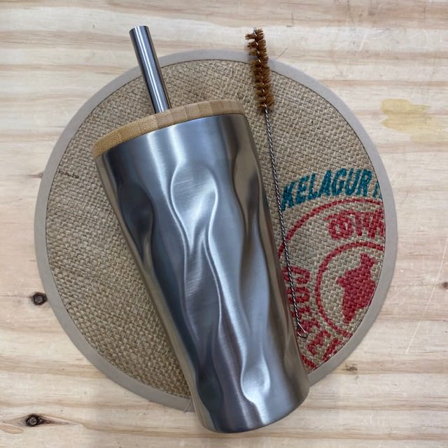 Bubble Tea and Smoothie Insulated Cup with Straw and Cleaner