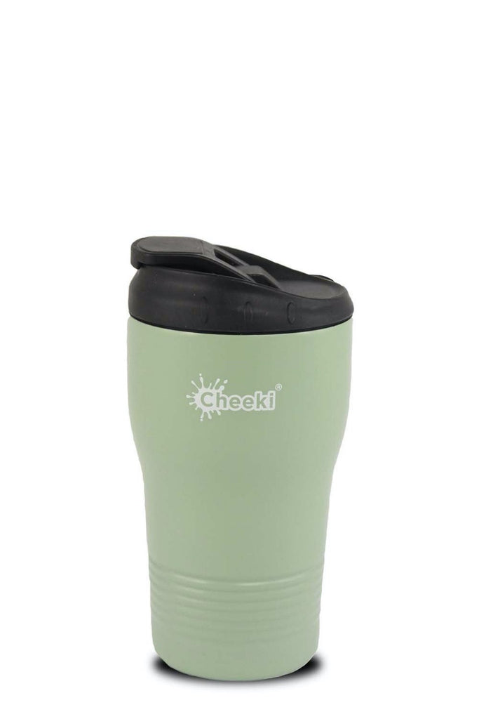 CHEEKI Insulated Spill Proof Coffee Cup 350ml Pistachio
