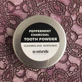 Activated Charcoal Miswak Peppermint Tooth Powder 25g - Tin