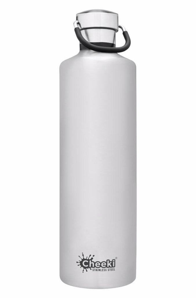 CHEEKI Classic Insulated Bottle - Silver -1L