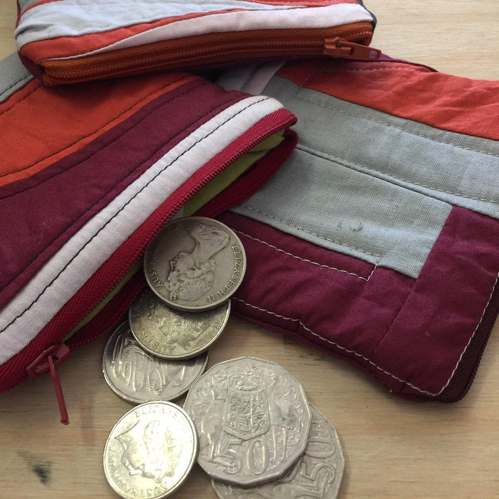 Cotton Coin Pouch - Recycled Cotton - Handmade