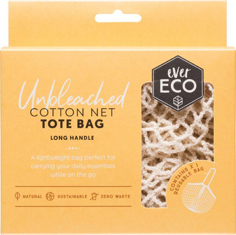 Cotton Net Tote Bag Long Handle - Ever Eco