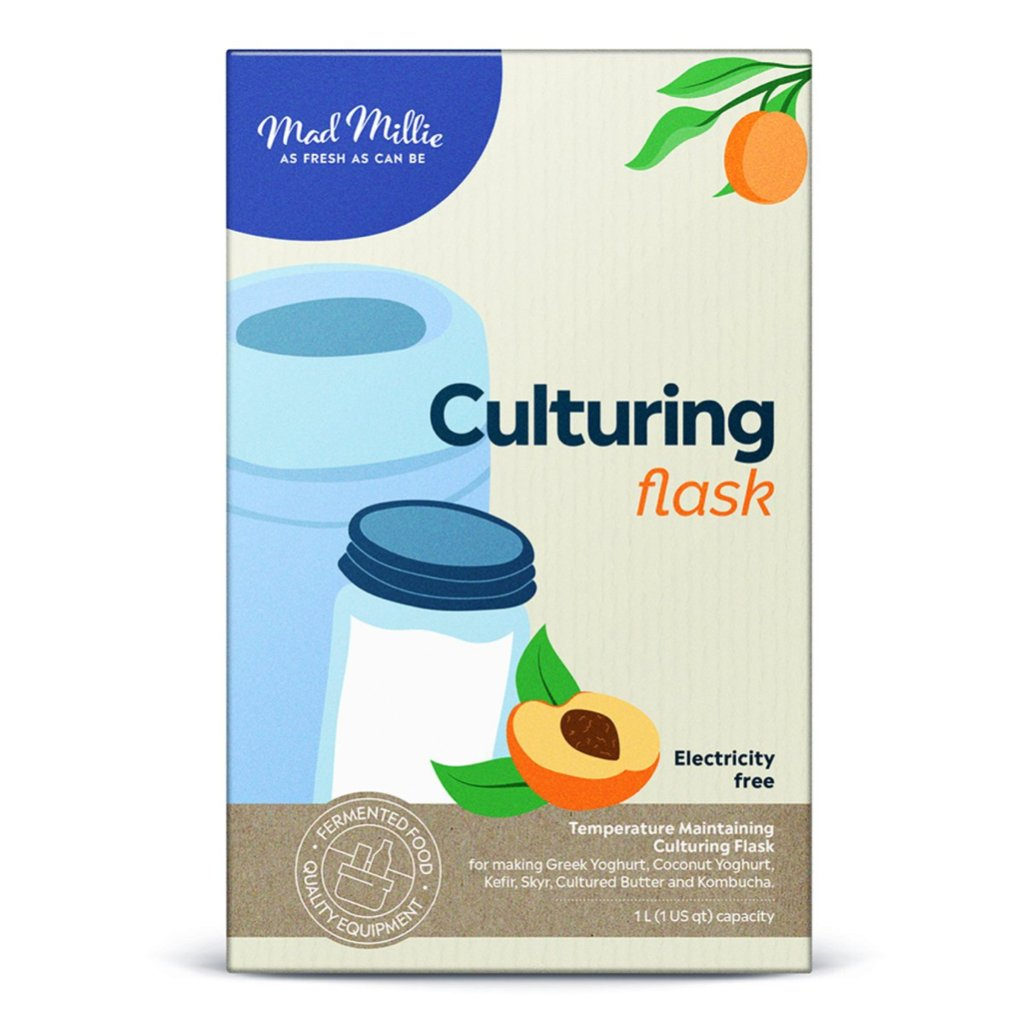 Packaging of the Culturing Flask, from Mad Millie