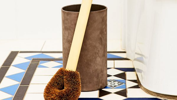 Eco Max Toilet Brush Holder Paper Pottery - Concrete