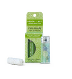 Dental Lace Refillable 100% Silk Floss in Pine Tree Green with Refill Spool and Packaging