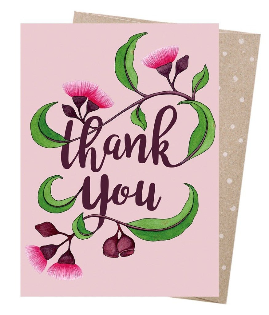 Earth Friendly Greeting Cards Thank You Blossom