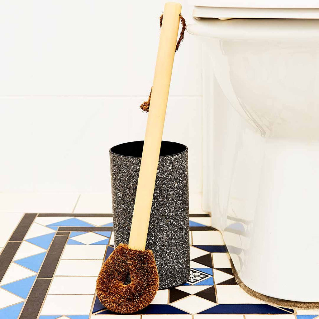 Eco Max Toilet Brush and Holder in Granite