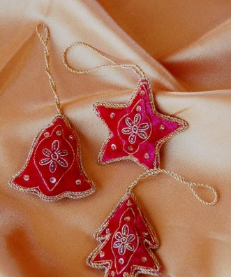Embroidered Christmas Decoration Set