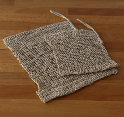 Hemp Knitted Wash Cloths