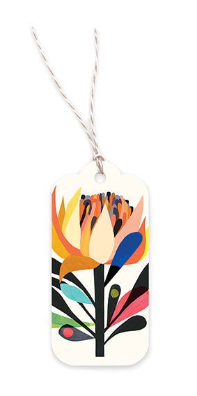 Earth Greetings Gift Tags - Cardinal Waratah