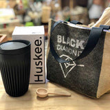 Coffee Lover Dad Fathers Day Gift Pack, Including Huskee Cup, Coffee Scoop and Double Coffee Carrier