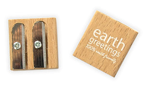 Earth Greetings Wooden Sharpener