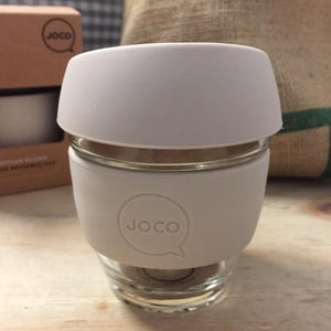 Joco Reusable Glass Cup 236ml (8oz) (Sandstone)