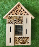 Large Insect Hotel with a mix of bamboo, pine cones and enclosed spaces with small diameter  entrances