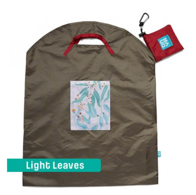 Onya Shopping Bags - Large Olive / Light Leaves