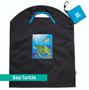 Onya Shopping Bags - Large Black Sea / Turtle