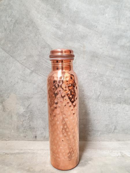 Copper Water Bottle with Hammered Finish, from Lets Go Natureal
