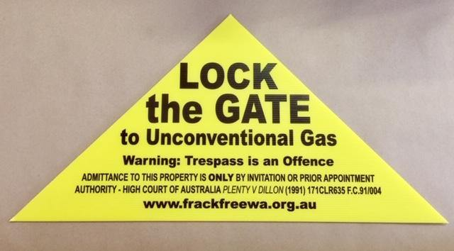 Frack Free WA - Lock The Gate Yellow Triangle