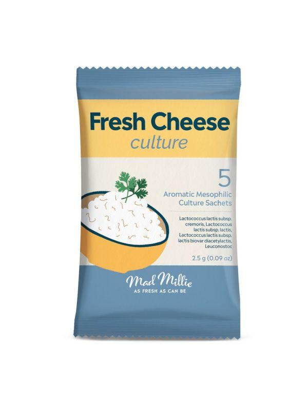 Packaging for the Fresh Cheeses Culture, from Mad Millie