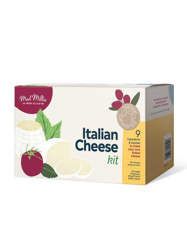 The Italian Cheese Kit from Mad Millie, Showing Packaging