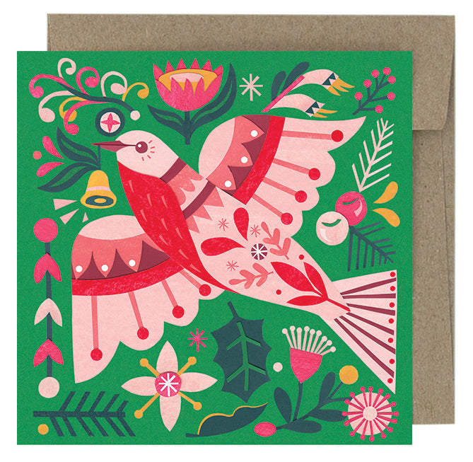 Earth Greetings Christmas Greeting Cards - Flame Robin