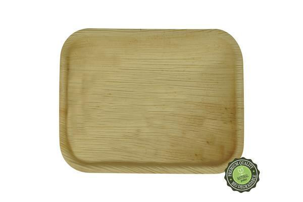"Palm Leaf Deep Rectangle Tray 7/5"" - Pack of 25"