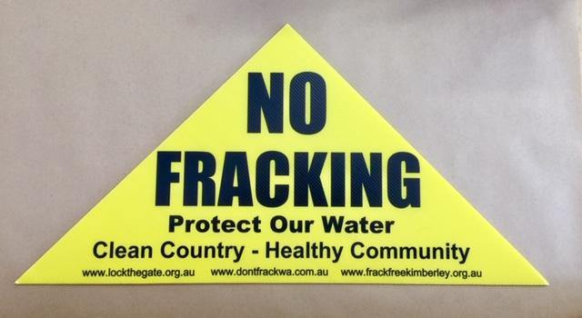 Frack Free WA - No Fracking Yellow Triangle
