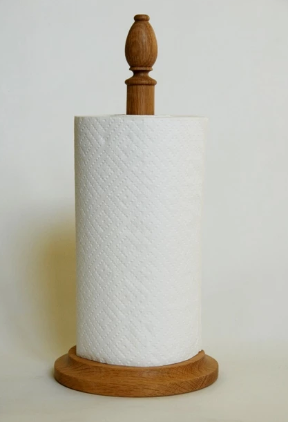 Oak Paper Towel Stand