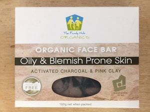Organic Face Bar - Oily and Blemish Prone Skin - The Family Hub