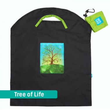 Onya Shopping Bags - Large Dark Grey / Tree of Life