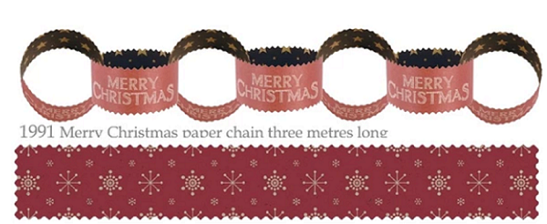 Paper Chain Christmas - Brown Paper Merry Christmas