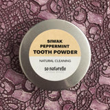 Miswak Peppermint Tooth Powder 25g - Tin