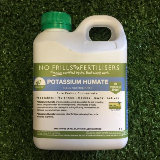 No Frills Potassium Humate - Fertile Soil Using Carbon