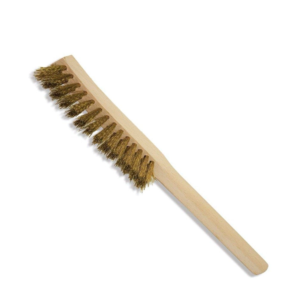 Brass Wire Brush with Beechwood Handle from Redecker