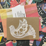 Reusable Greeting Card (Bird Design) and Envelope, from Stella Stellina