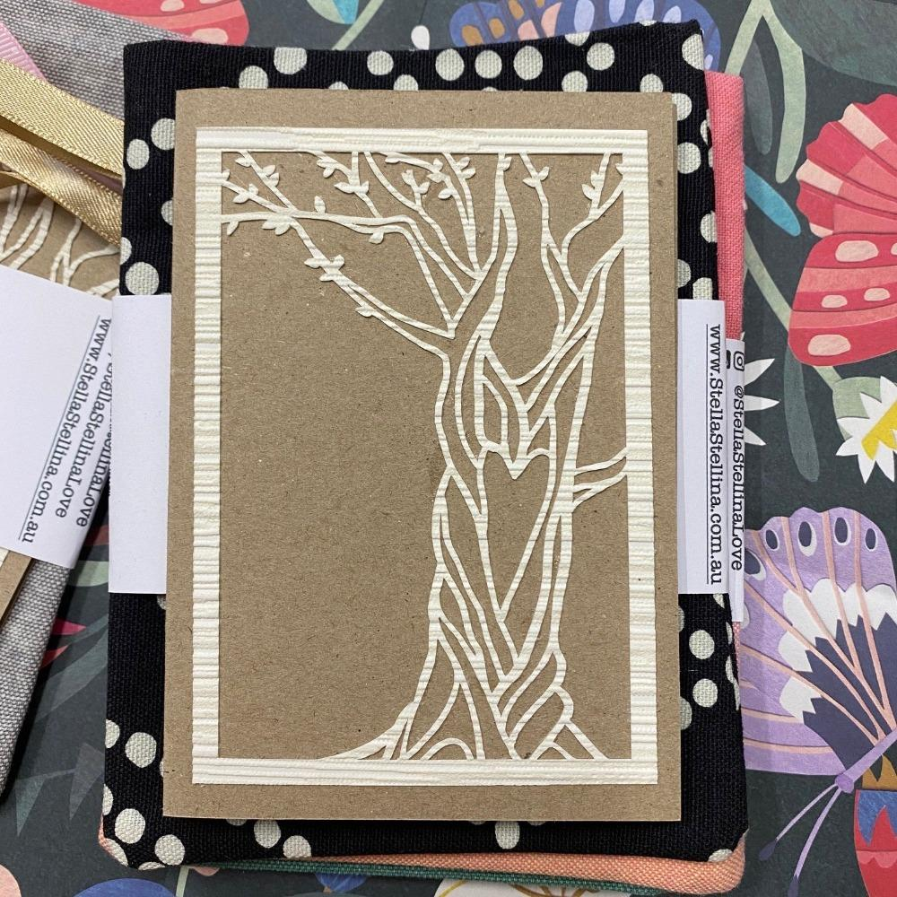 Reusable Greeting Card (Tree with Heart Design) and Envelope, from Stella Stellina