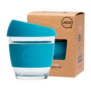 Joco Reusable Glass Cup 236ml (8oz) (Blue)