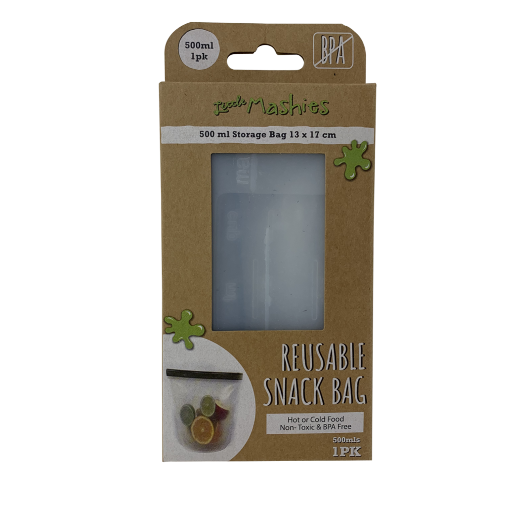 Reusable Silicone Snack Bag in box