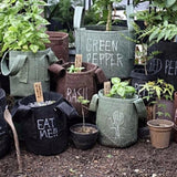 A Collection of Recycled Plastic Root Pouch Plant Pots in Various Sizes