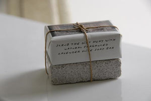 Lavender and Olive Oil Gardener's Soap with Pumice