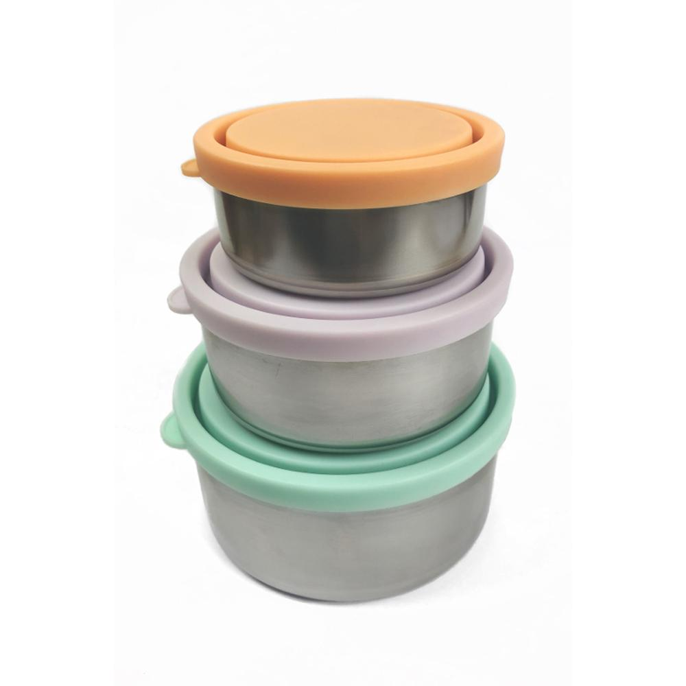 Stainless Steel Mini Containers Spring Pastels 3 pk