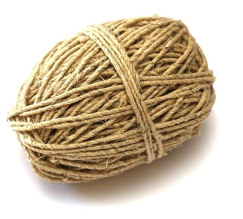 Thick Hemp Twine, Natural, 4-Ply, 50m