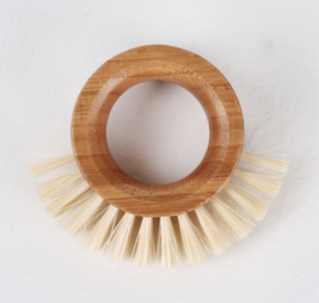 Round Bamboo and Recycled Nylon Vegetable Brush from Eco Basics