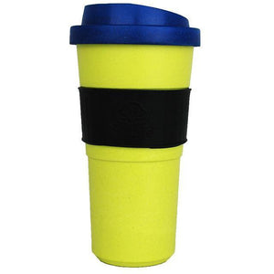EcoSouLife Bamboo Bio Sip Cup 20oz (590ml) Home Lime/Blue Lid