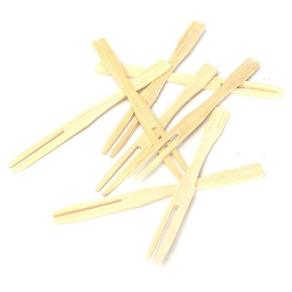 Bamboo Cocktail (Fork) Skewers - Pack of 100