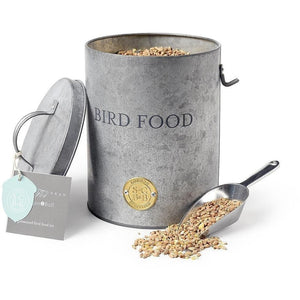 Quality Products Bird Food Tin Garden