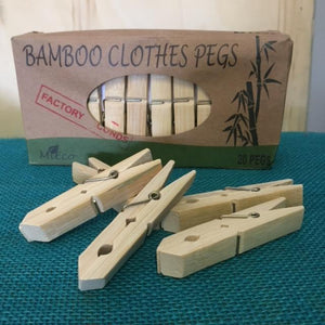 MiEco Clothes Pegs - Bamboo - Factory Seconds Home